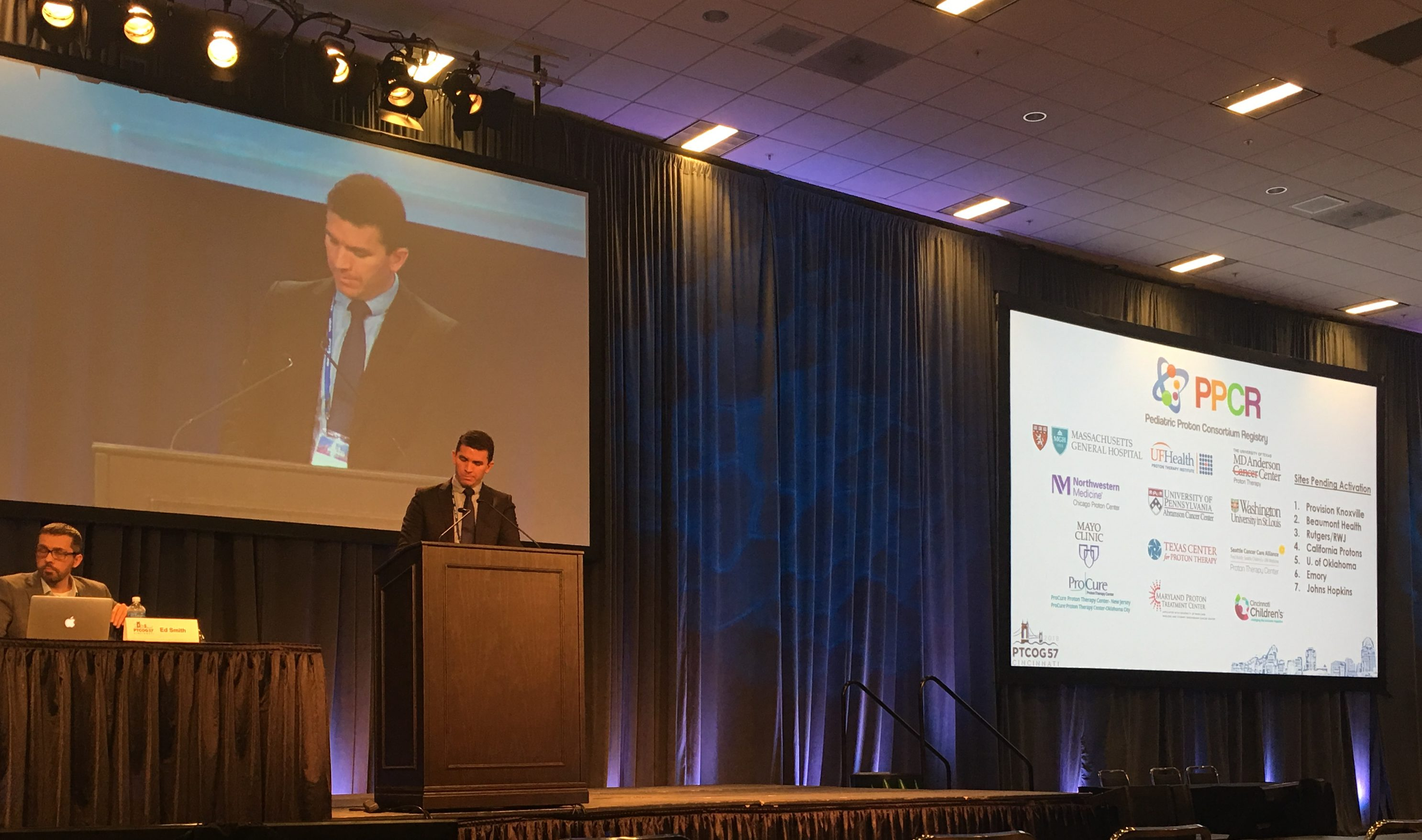 Former Pediatric Proton Fellow Clayton Hess, MD Presenting PPCR Data at PTCOG 2018